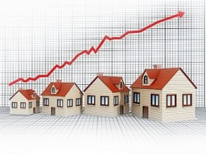 Rising house sales concept
